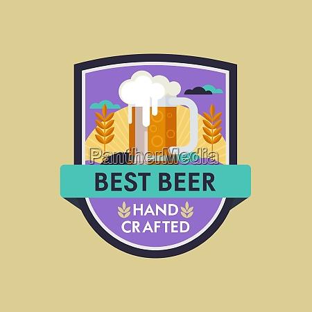 vector logo beer mug best beer