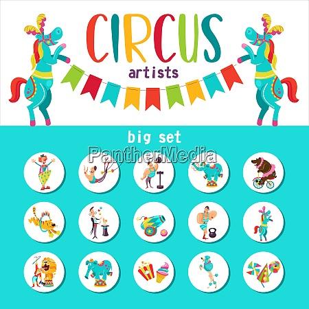 circus artist circus animals big collection