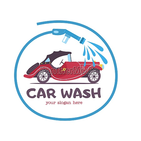 the emblem of the car wash
