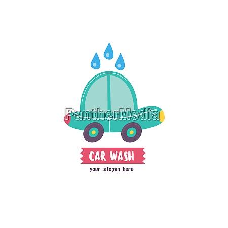 car wash emblem vector illustration in