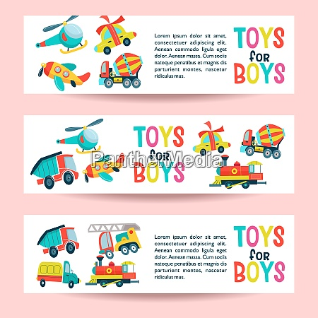 a set of childrens toys vector