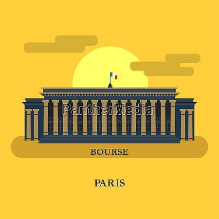 euronext paris france vector illustration