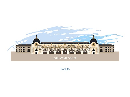 the musee drsquoorsay paris france vector
