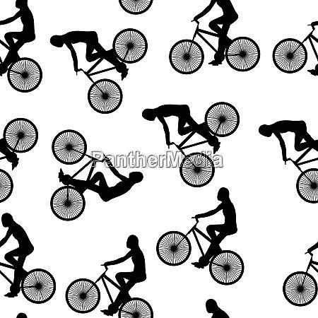 bike background seamless pattern can be