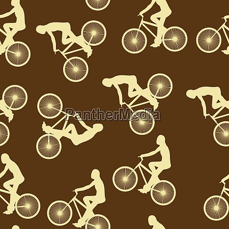 bike background seamless pattern can be