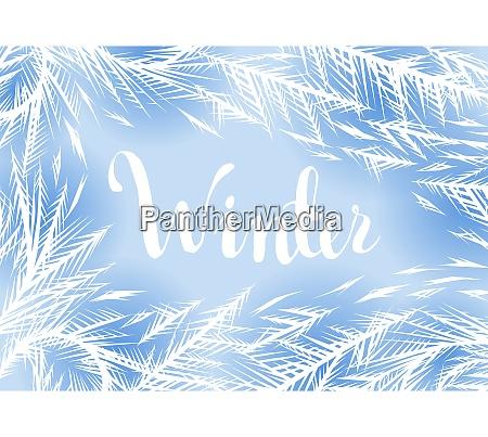 winter frozen window background ornament of