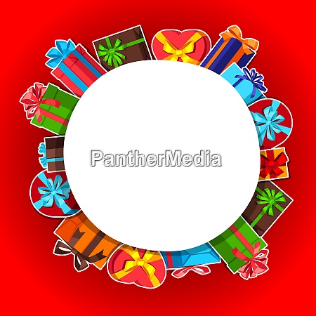 celebration background or card with sticker