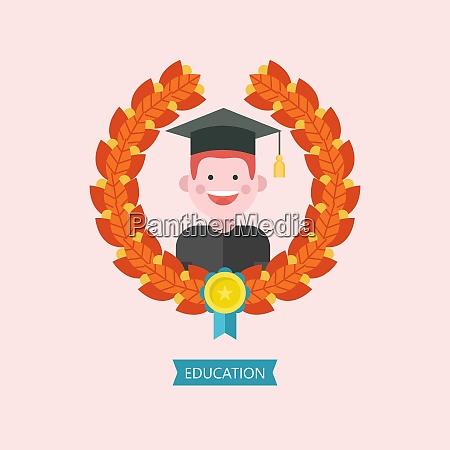 education logo emblem of educational institution