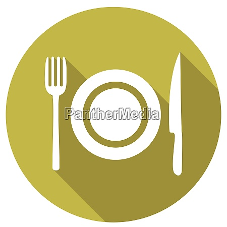 fork and knife icons