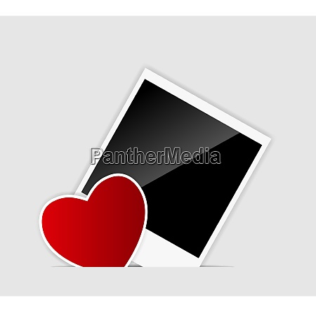 vector blank instant photo with