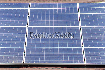large solar panels on a wood
