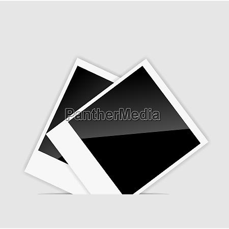 vector blank instant photos vector