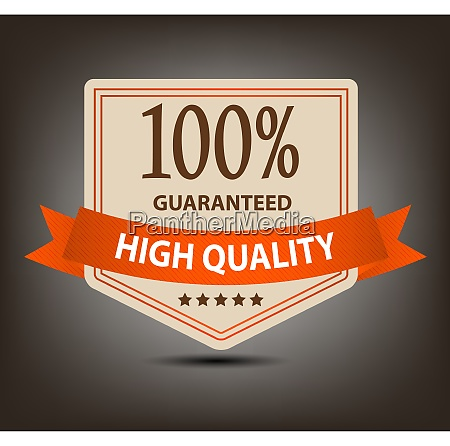 satisfaction guaranteed label vector illustration