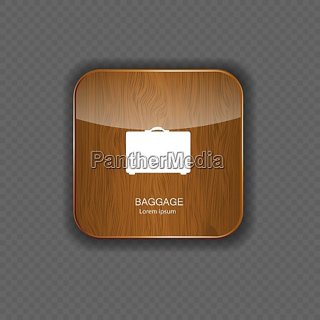 baggage wood application icons