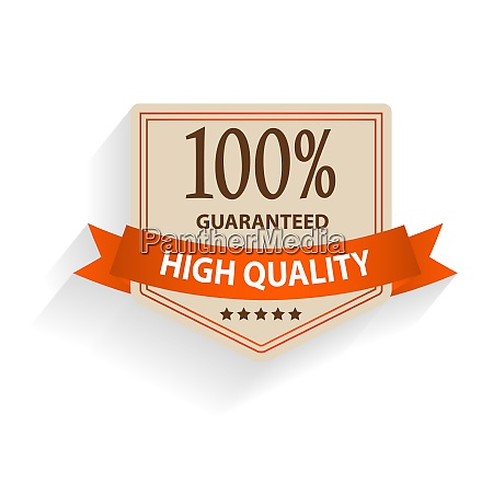 satisfaction guaranteed label isolated vector illustration
