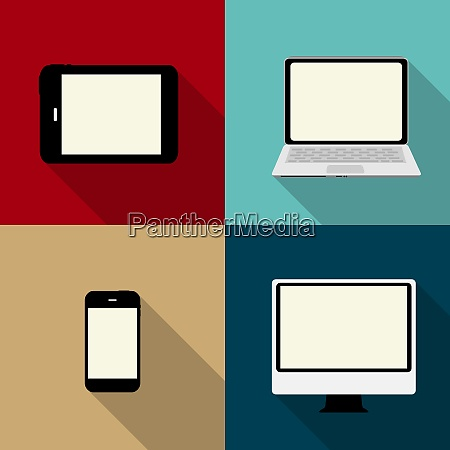 computing concept on different electronic devices