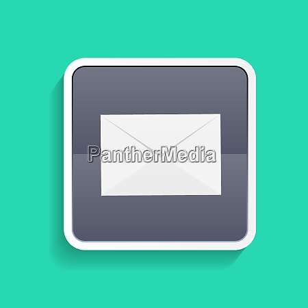 mail flat icon concept vector illustration