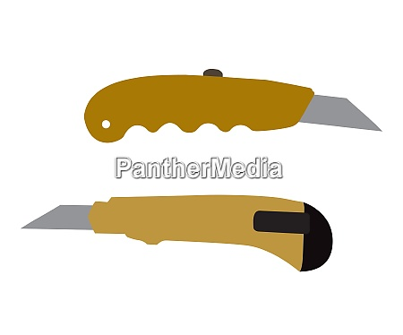 cutter knifes isolated on white background