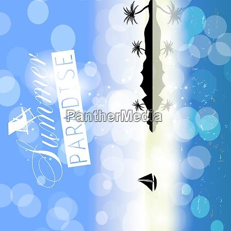 summer holidays on blue background vector