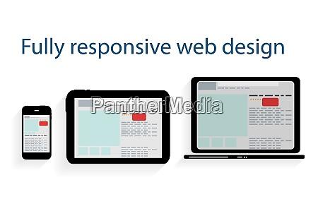 responsive web design icon vector illustration
