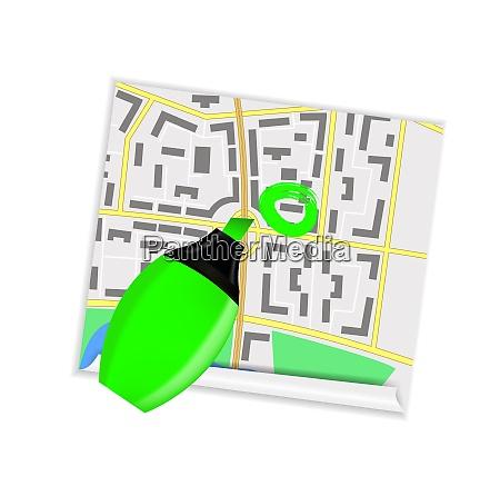 navigation icon on white vector illustration