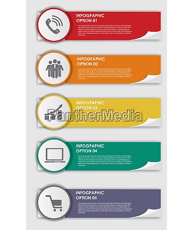 colored infographics design elements vector illustration
