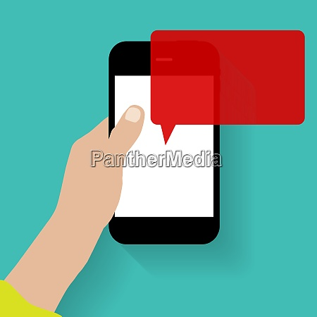 text messaging flat concept vector
