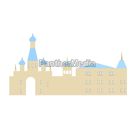isolated vector illustration of city silhouette