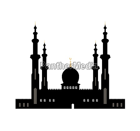 vector illustration of city black silhouette