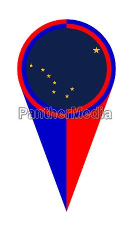 alaska map pointer location flag