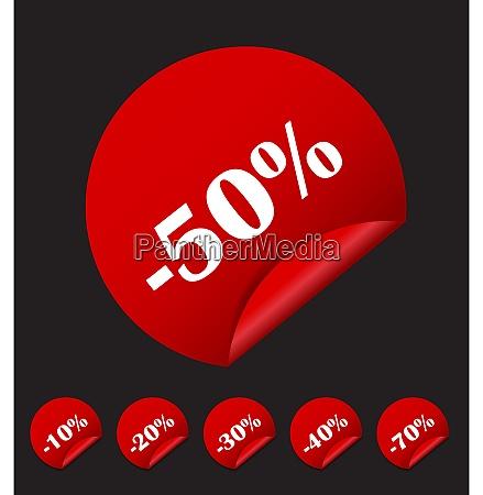 sale sticker banner template set vector