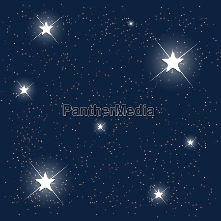space blue starry sky vector illustration
