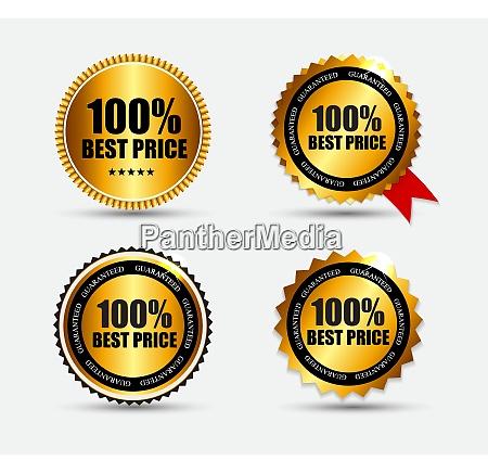 best price label set vector illustration