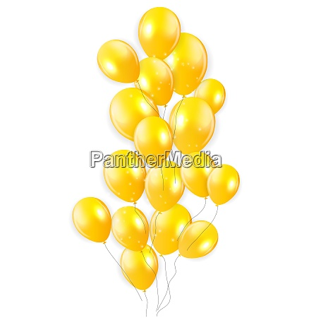 colored glossy balloons background vector illustration