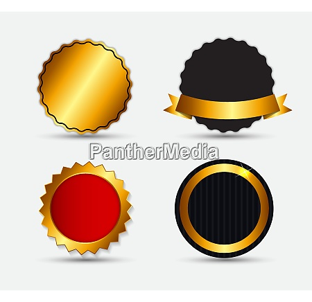 set of gold label template vector