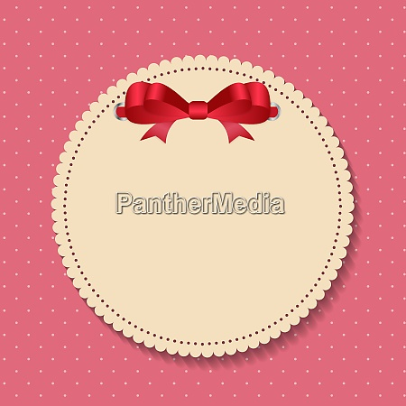vintage frame with bow background