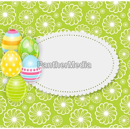 beautiful easter egg background vector illustration