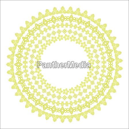 monochromatic ethnic round ornamental vector illustration