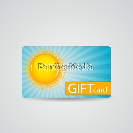 abstract beautiful sunny gift card design