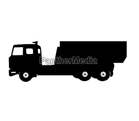 black most car truck vector illustration