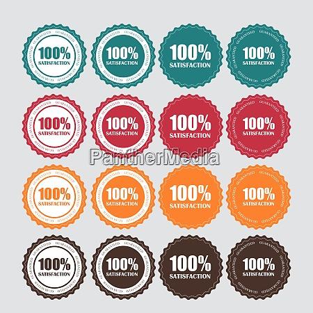 set of satisfaction golden label vector
