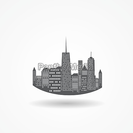city icon isolated on white vector