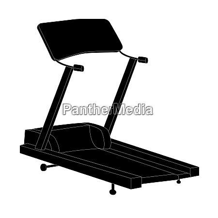 sports trainer simulator isolated vector illustration