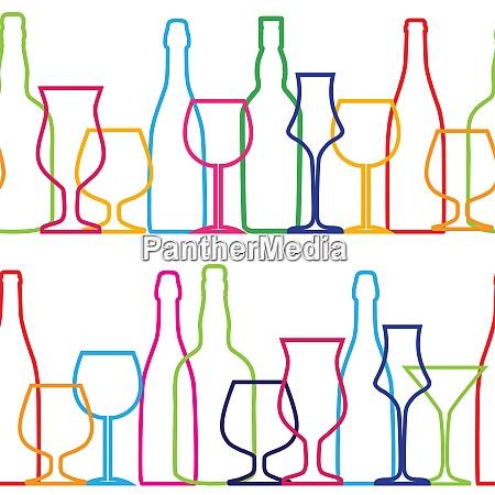 vector illustration of silhouette alcohol bottle