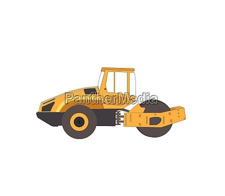 rammer major construction rink asphalt vector