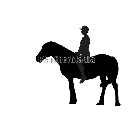 silhouette of the rider on the