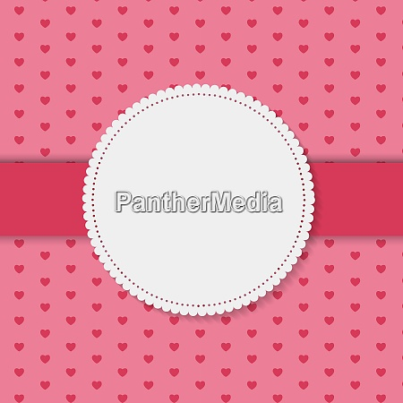 retro frame on cute background vector