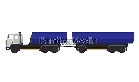 blue most car truck vector illustration