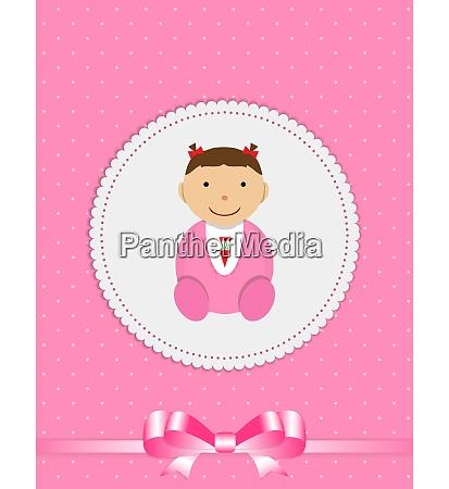vector illustration for newborn girl eps10