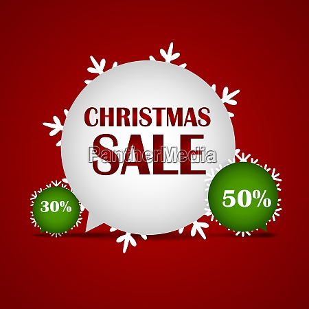 christmas sale on red background vector